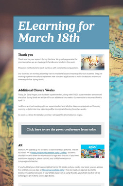 ELearning for March 18th