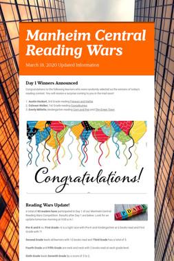 Manheim Central Reading Wars