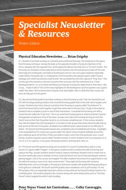 Specialist Newsletter & Resources