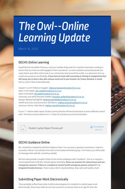 The Owl--Online Learning Update