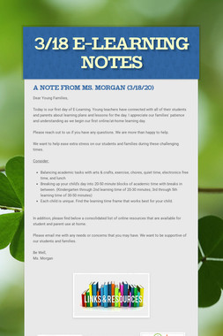 3/18 E-Learning Notes