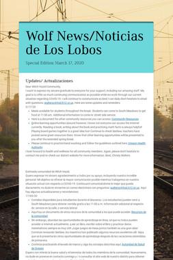Wolf News/Noticias de Los Lobos