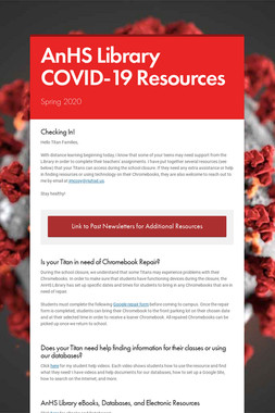 AnHS Library COVID-19 Resources