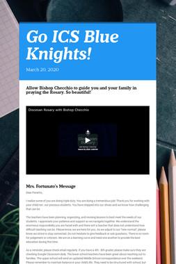 Go ICS Blue Knights!