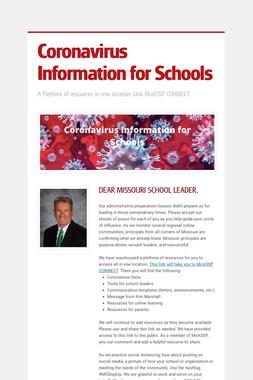 Coronavirus Information for Schools
