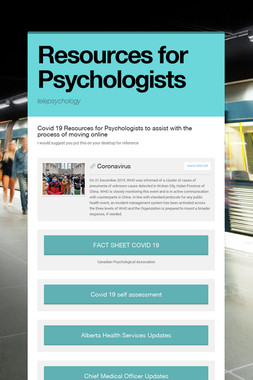 Resources for Psychologists