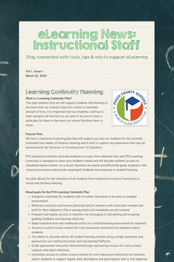 eLearning News: Instructional Staff