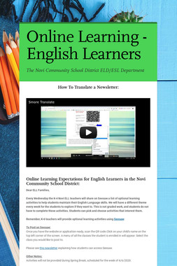 Online Learning - English Learners