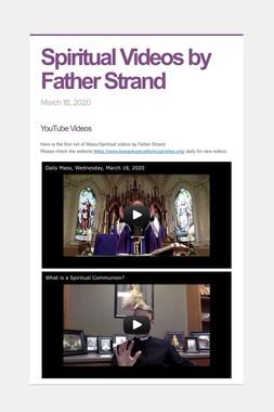 Spiritual Videos by Father Strand