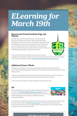 ELearning for March 19th