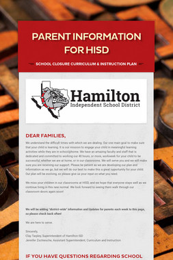 Parent Information for HISD