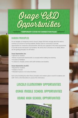 Osage CSD Opportunities