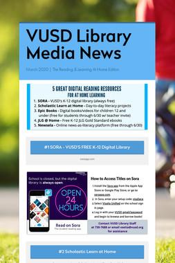 VUSD Library Media News