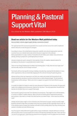 Planning & Pastoral Support Vital
