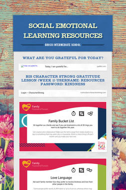 Social Emotional Learning Resources