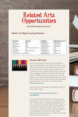 Related Arts Opportunities