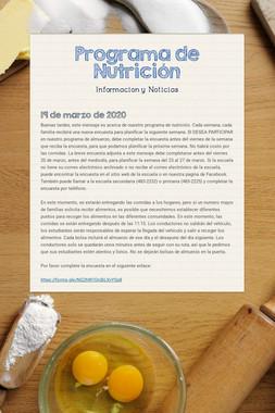 Programa de Nutrición