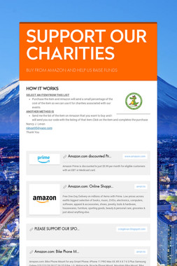 SUPPORT OUR CHARITIES