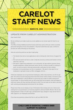 Carelot Staff News