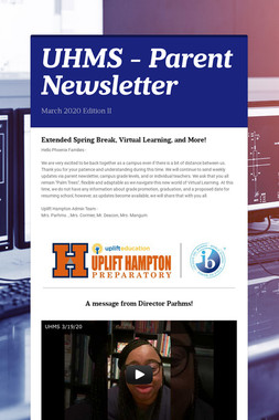 UHMS - Parent Newsletter