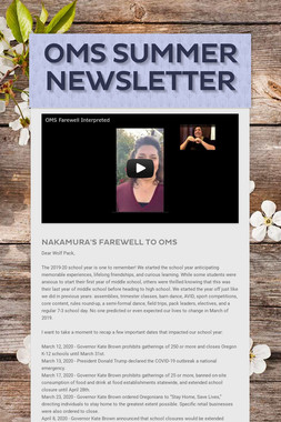 OMS Summer Newsletter