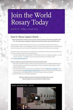 Join the World Rosary Today