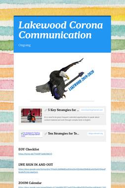 Lakewood Corona Communication
