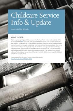 Childcare Service Info & Update