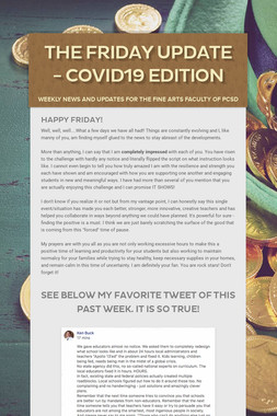 The Friday Update - COVID19 Edition