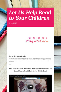 Let Us Help Read to Your Children