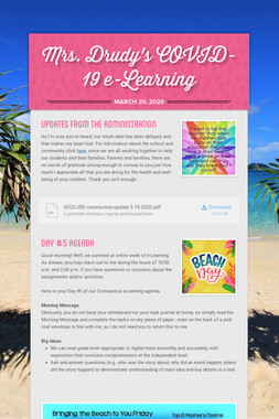 Mrs. Drudy's COVID-19 e-Learning
