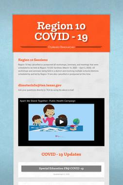 Region 10 COVID - 19