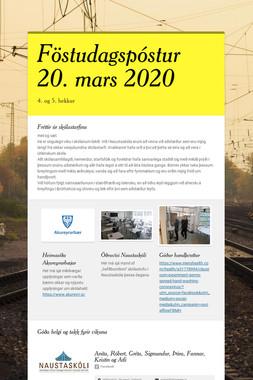 Föstudagspóstur 20. mars 2020
