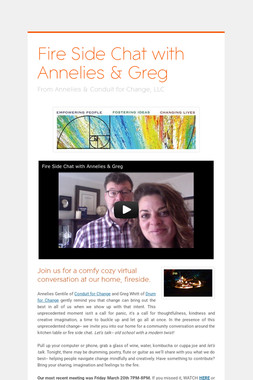 Fire Side Chat with Annelies & Greg