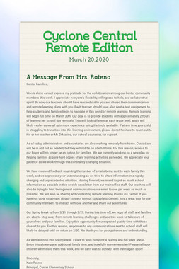 Cyclone Central Remote Edition