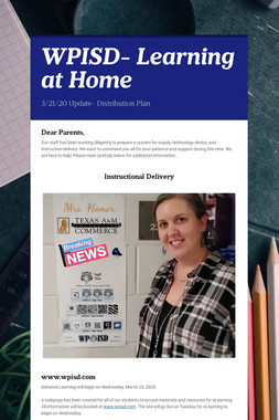 WPISD-             Learning at Home