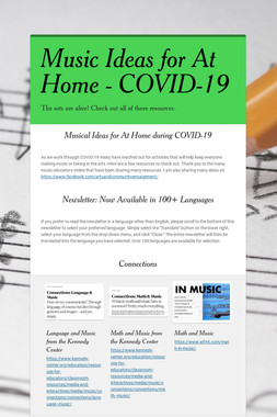Music Ideas for At Home - COVID-19