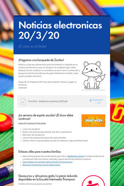 Noticias electronicas 20/3/20