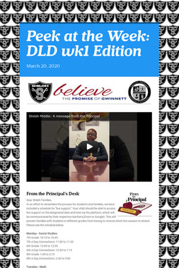 Peek at the Week: DLD wk1 Edition