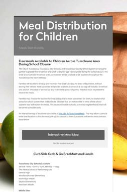 Meal Distribution for Children