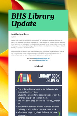 BHS Library Update
