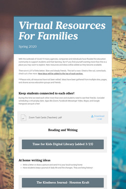 Virtual Resources For Families