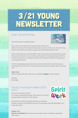 3/21 Young Newsletter