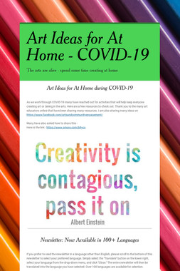 Art Ideas for At Home - COVID-19