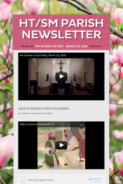 HT/SM Parish Newsletter