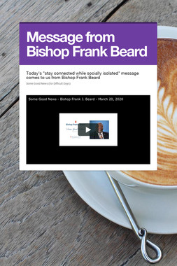 Message from Bishop Frank Beard