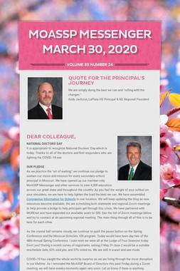 MoASSP Messenger March 30, 2020