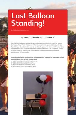 Last Balloon Standing!