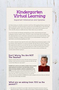 Kindergarten Virtual Learning