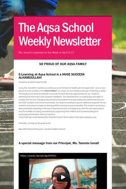 The Aqsa School Weekly Newsletter